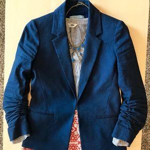 Antonio Melani Ruched Sleeve Blazer - Blue - 2